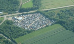An aerial view of Maritime Auto Parts.