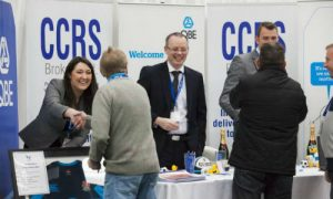 Welcoming attendees to CARS 2014. The trade show provides an opportunity to network with auto recyclers from around the world.