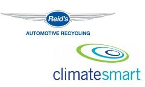 Reid's Auto Recycling and ClimateSmart logos