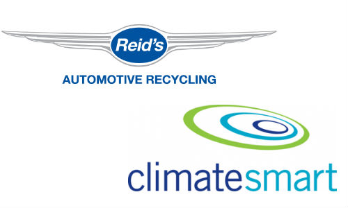 Reid's Auto Recycling and ClimateSmart logos