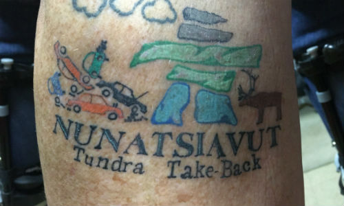 Darrell Pitman of P and G Auto was one of the recycler volunteers for the latest Tundra Take-Back project. He got this tattoo to commemorate the occasion.