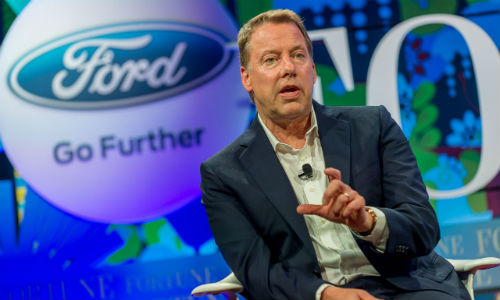While at Fortune's Brainstorm E conference, Executive Chairman Bill Ford announced the company's research into converting carbon dioxide into plastics and foams.
