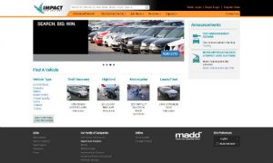 The new home page of Impact Auto Auctions. The auction company has made a number of enhancements to its online buyer portal and bidding platform.