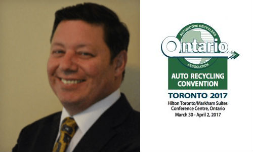 The Ontario Automotive Recyclers Association has named Paul D'Adamo of Recycling Growth as the keynote speaker for the 2017 OARA Convention.