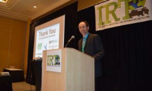 Steve Fletcher of the Automotive Recyclers of Canada at the International Roundtable on Auto Recycling. The event drew representation from around the world.