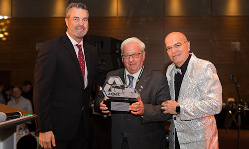"Mr. Gabriel Lussier, was honoured during the banquet on Saturday evening, receiving the ""ARPAC Award for Excellence and Innovation Roger Fugère Sr."""