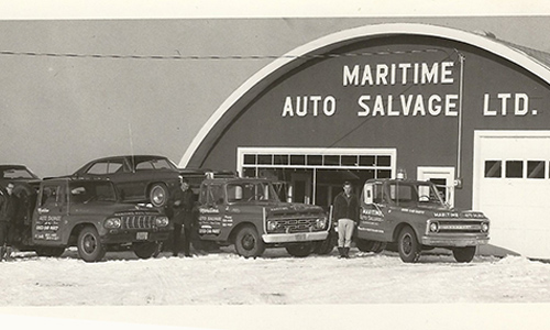 Maritime Auto Parts in the earlier days of its operations.